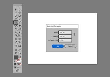 example of creating a rounded rectangle in illustrator