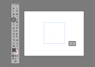 creating a square using the click-and-drag method in illustrator