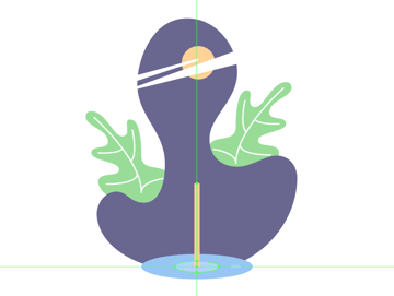 drawing the standing leg of the bird