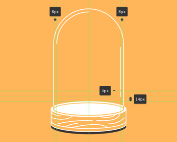 adding the detail lines to the glass dome