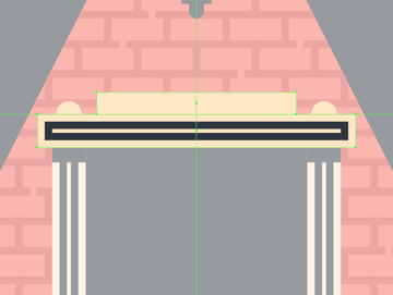 adding the raised segment to the upper section of the door frame