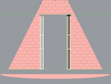 adding the left section of the door frame
