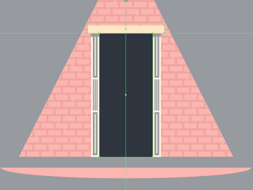 creating the upper section of the door frame