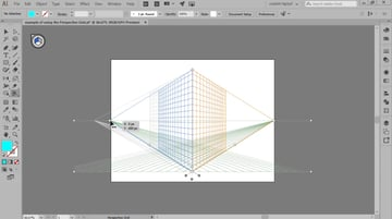 adjusting the position of the vanishing points