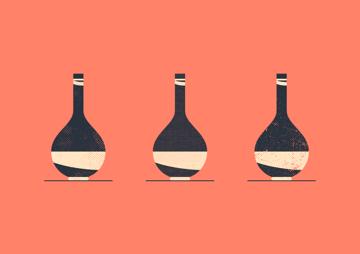 vintage halftone textures vase example