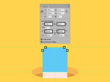 creating the upper section of the eraser