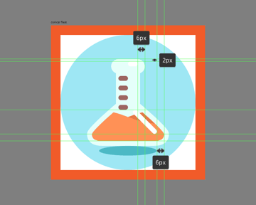 finishing off the conical flask icon