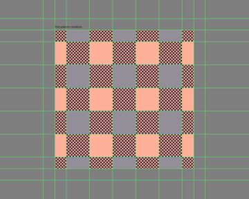 adding the remaining shapes to the first pattern