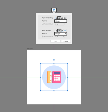 center aligning the masked icon