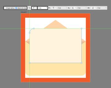 adjusting the left corner of the envelope