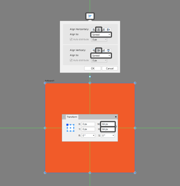 creating the main reference surface