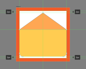 creating the top flap