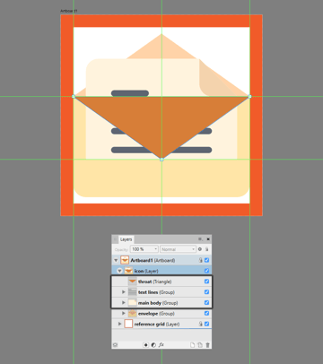 creating the main shape for the subtle shadow