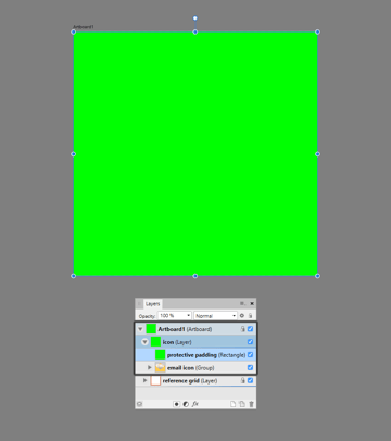 creating the main shape for the larger clipping mask