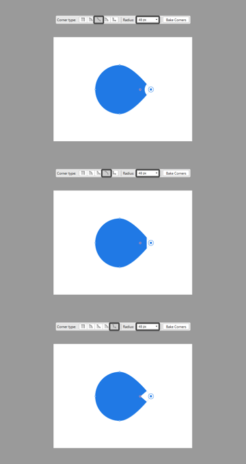 example of available corner types