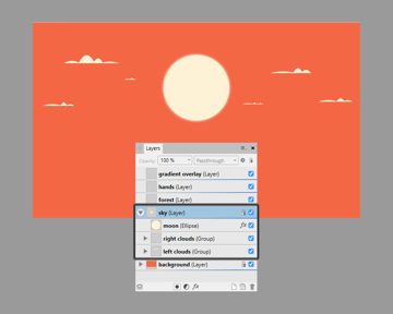 adding the remaining clouds