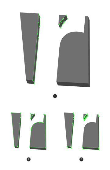 making the shape adjustments to the letter r