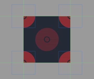 adding the remaining larger decorative circles