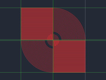 adding the horizontal detail lines to the outer section