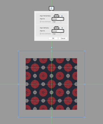 center aligning the copy and paste pattern