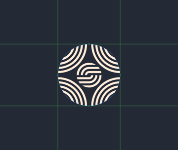 masking the circle groups of the smaller inner section