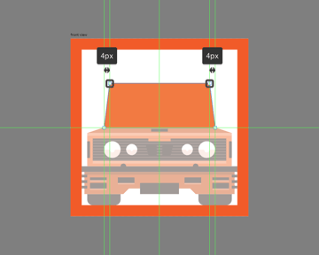 creating the upper section for the front section of the car