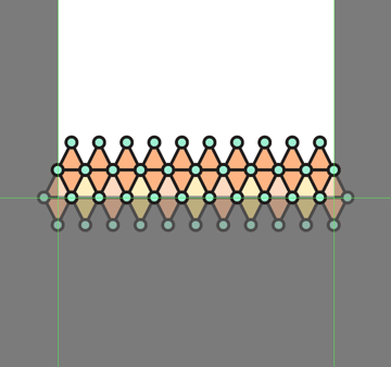 adding the second row to the third pattern