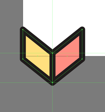 creating the right section of the first column of the second pattern