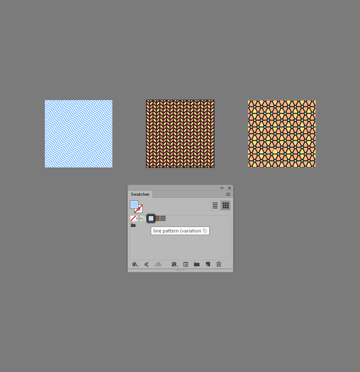 examples of patterns added to the swatches library