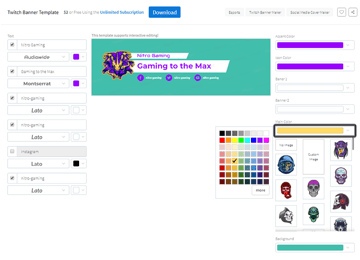 example of changing the color of the avatar