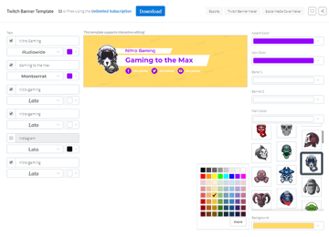 example of changing the color of the background