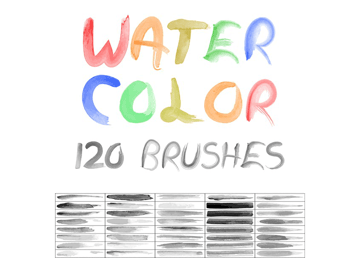 120 watercolor brushes