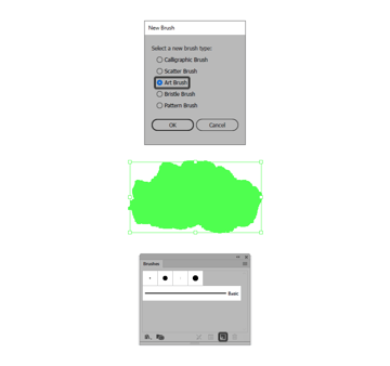 creating a new art brush using the traced image