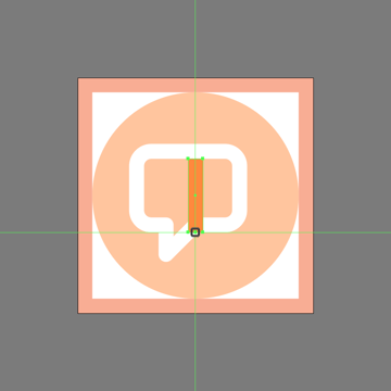 adding a new anchor point to the pencil cutout