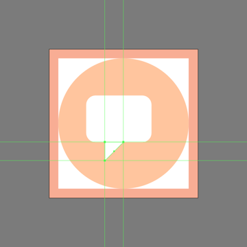 adjusting the shape of the smaller square
