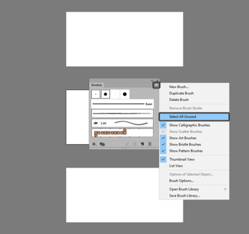 example of removing the default brushes