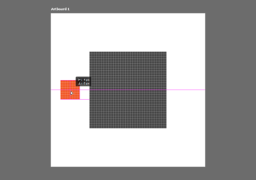 positioning a shape using the click and drag method within the pixel grid in photoshop