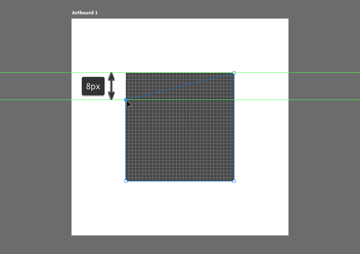 example of positioning an anchor using the click and drag method in photoshop