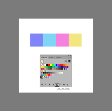 editing a color group using the edit color group button
