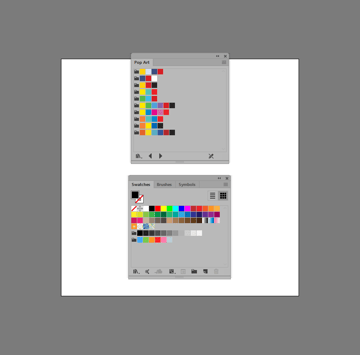 example of opening up a default swatch library