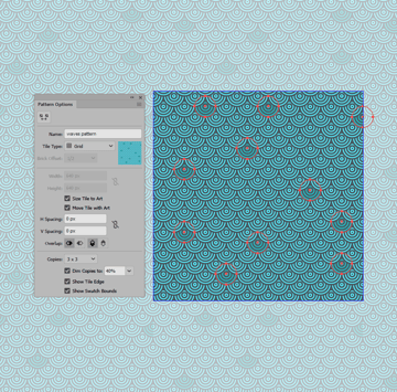 example of adjusting an existing pattern