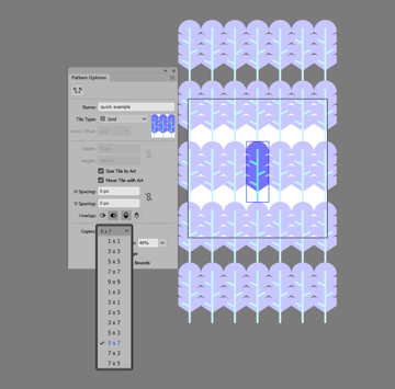 example of adjusting the number of tile copies