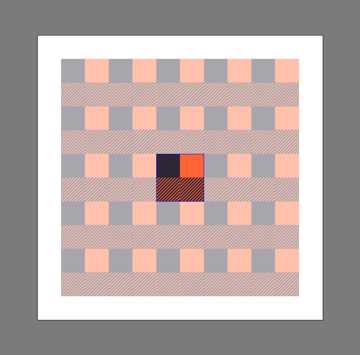 incorrect positioning of a repeating pattern element