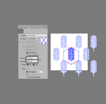 example of using the pattern tile tool