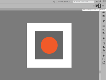 locating the advanced snap to pixel options in illustrator