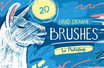 hand drawn brushes