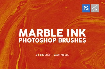 marble ink brushes