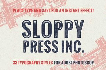sloppy press photoshop layer styles