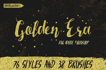 golden effect layer styles