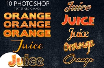 orange layer styles
